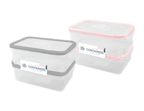 Clip Lock Containers 450ml 2pk Trend