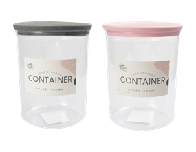 Wholesale PS Round Storage Container 1100ml | Gem Imports Ltd