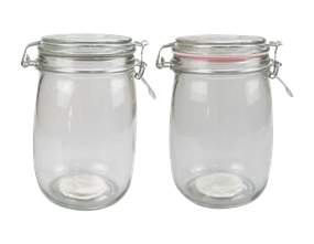 Glass Jar with Clip Top Lid 1000ml - Trend