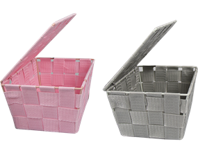 Woven Storage Basket with Lid - Trend