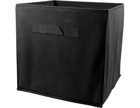 Plain Foldable Non Woven Storage Box - Black