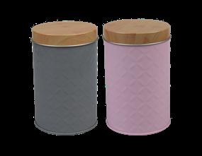 Wholesale Round Embossed Storage Tin Small - Trend | Gem Imports Ltd