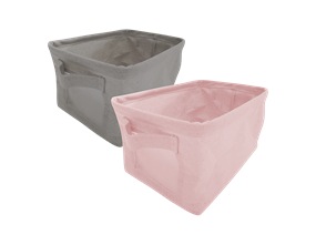 Foldable Canvas Storage Basket with Handles