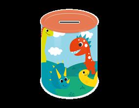 Dinosaur Money Tin