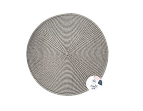 Wholesale Grey Round Place Mats   Gem Imports Ltd
