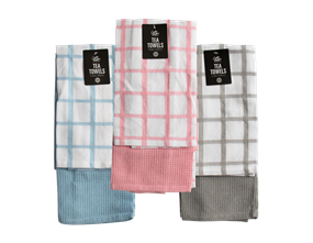 Wholesale Plain & Waffle Tea Towels | Gem Imports Ltd