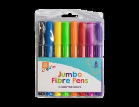 Jumbo Fibre Pens - 8 Pack