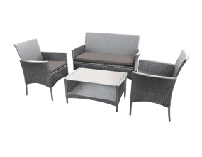 Grey Rattan Look Chairs Set