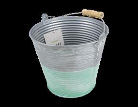 Wholesale Medium Two Tone Bucket Planters | Gem Imports Ltd