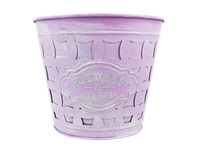 Wholesale Embossed Flowers Bucket Planters | Gem Imports Ltd