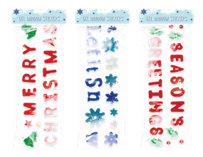 Large Christmas Gel Window Stickers