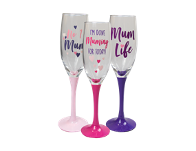Wholesale Mothers Day Prosecco Glasses | Gem Imports