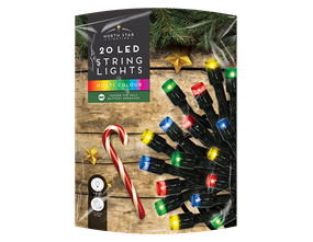 Wholesale Multi Coloured LED Christmas String Lights | Gem Imports Ltd