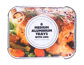 Aluminium Foil Trays - 6 Pack