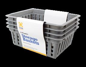 Handy Plastic Storage Basket - 4 Pack