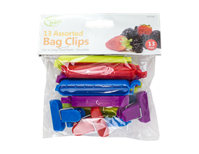 Assorted Keep Fresh Bag Clips - 13 Pack