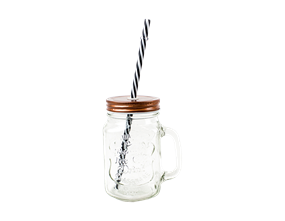 Glass Bottle With Straw