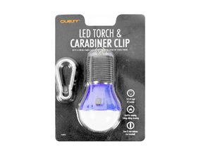 LED Torch With Carabiner Clip