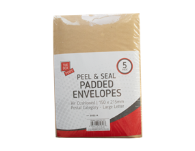 Padded Envelopes 15cm x 21.5cm - 5 Pack