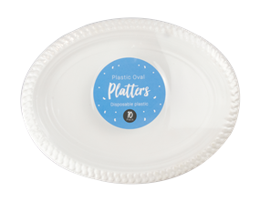 Wholesale White Plastic Oval Platters | Gem Imports Ltd