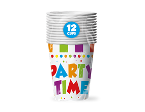 Party Disposable Paper Cups - 12 Pack