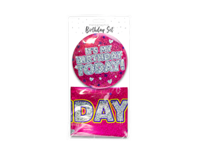Wholesale Holographic Birthday Sets | Gem Imports Ltd