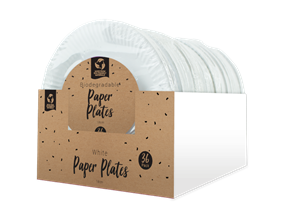 Wholesale Disposable White Paper Plates | Gem Imports Ltd