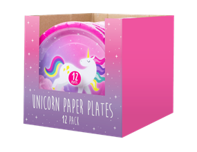Unicorn Disposable Paper Plates 23cm - 12 Pack