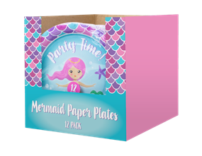 Mermaid Disposable Paper Plates 23cm - 12 Pack