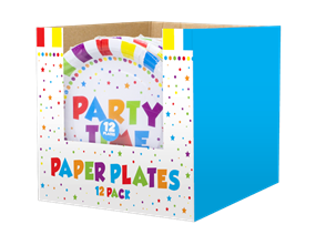 Party Disposable Paper Plates 23cm - 12 Pack