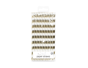 Metallic Paper Straws – 24 Pack