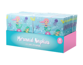 Mermaid Paper Napkins 3 Ply - 20 Pack