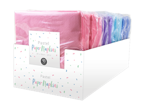 Pastel Disposable Paper Napkins