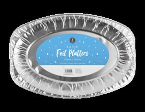 Large Foil Platters - 2 Pack