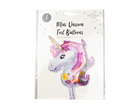 Wholesale Mini Unicorn Foil Balloons | Gem Imports Ltd