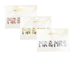 Wholesale Mr & Mrs Foil Balloons | Gem Imports Ltd