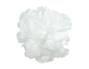 Wholesale Exfoliating White Bath Ruffles | Gem imports Ltd