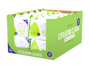 Exfoliating Cleanse Facial Wipes - 25 Pack