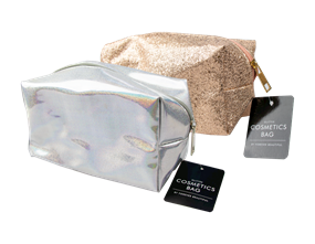 Wholesale Glitter Cosmetics Bags | Gem Imports Ltd