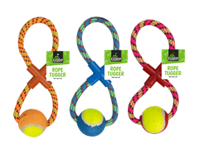 Wholesale Rope Dog Pull & Tug Toy With Ball | Gem Imports Ltd