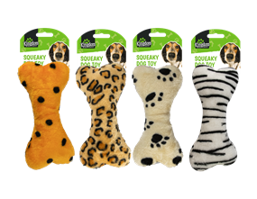 Wholesale Animal Print Squeaky Dog Toys | Gem Imports Ltd