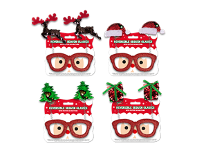 Wholesale Reversible Sequin Christmas Glasses | Gem Imports Ltd