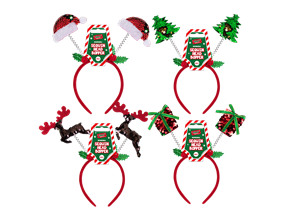 Wholesale Reversible Sequin Christmas Head Boppers | Gem Imports Ltd