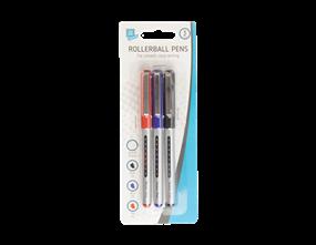 Rollerball Pens - 3 Pack