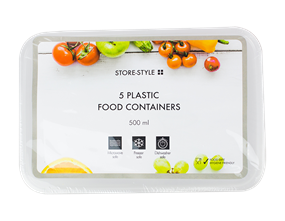 Freezer/Microwave Containers 500ml - 5 Pack
