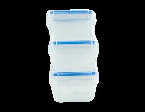 Clip-Lock Container Set - 3 Pack