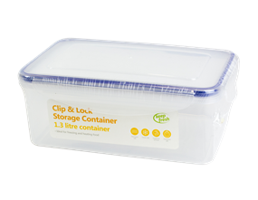 Clip-lock Rectangular Container 1.3 Litre
