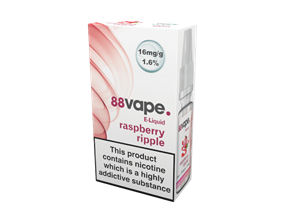 Wholesale 88 Vape Raspberry Ripple E-liquid | Gem Imports