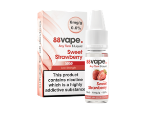 Wholesale 88 Vape Any Tank Sweet Strawberry E-liquid | Gem Imports