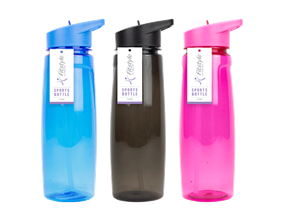 Coloured Sports Drinking Bottle 750ml